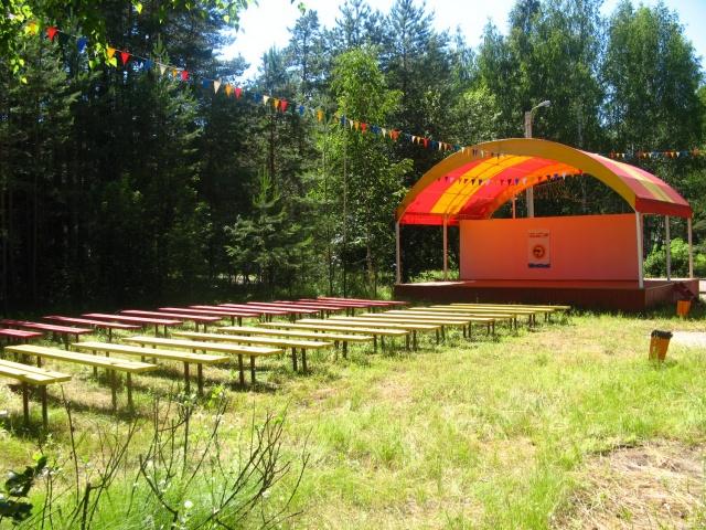 Пансионат Яльчик концертная площадка