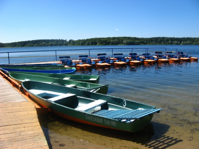 Пансионат Яльчик пирс на озере